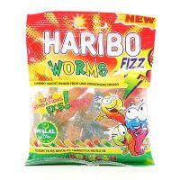 Haribo Fizz Worms - Halal -  Würmer Sauer 80g